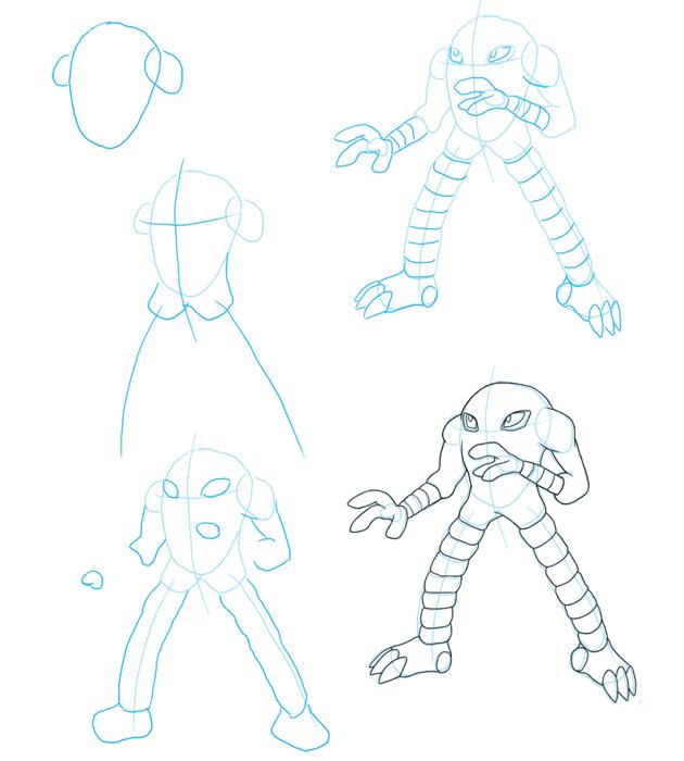 How to draw Hitmonlee