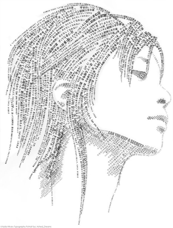 typographic portrait girl