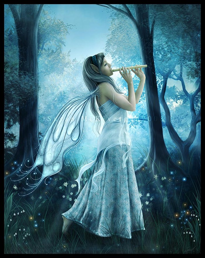 A fairy with a flute