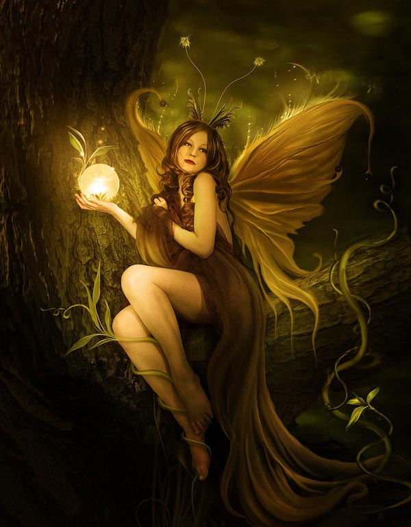Bosque is a fairy illustration