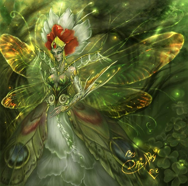 Queen Fairy with Beetle Wings