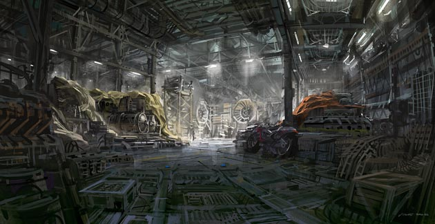 digital painting hangar