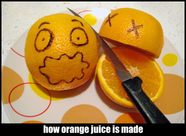 orange juice humor