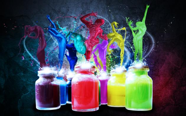 COlorful Paint Dance wallpaper