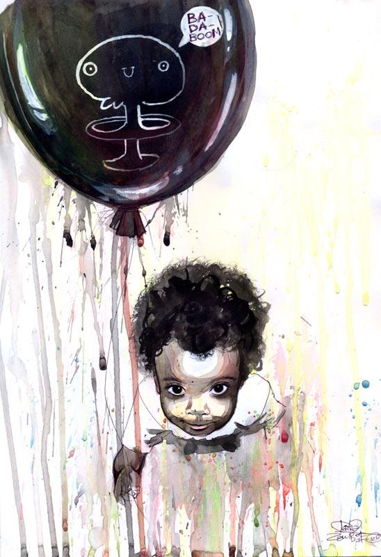 black baloon traditional splutter