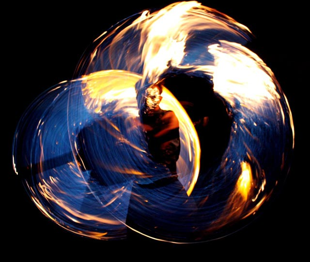 blue fire circles photography