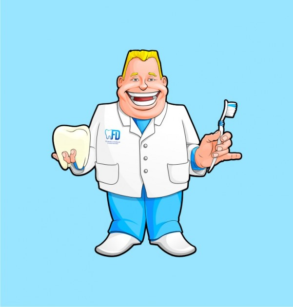 dentist vector illustration