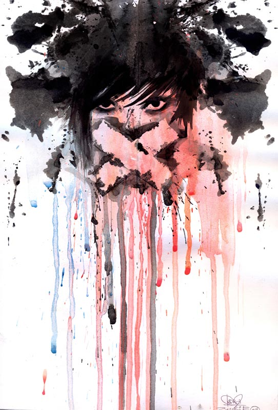splatter grunge traditional paintings