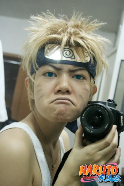 Naruto cosplay with camera
