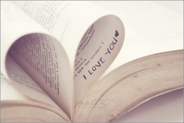 love you heart book photography
