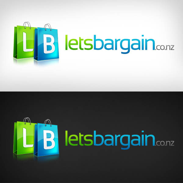 lets bargain web 2.0 logo design