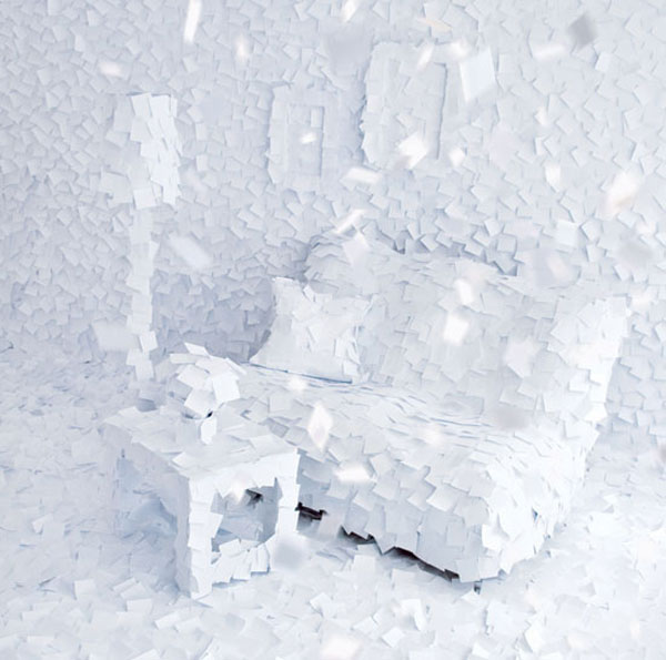 winter furniture paper artwork