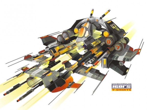vector ship space design artwork details