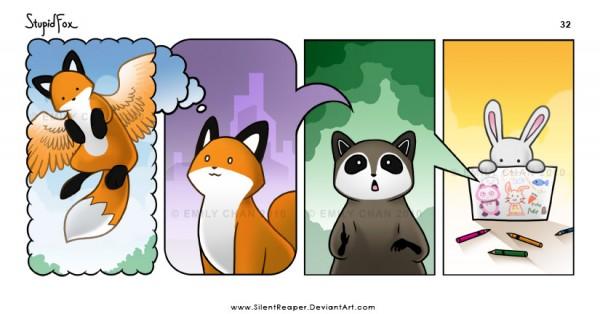 stupid fox raccoon rabbit funny comics situations cute animals