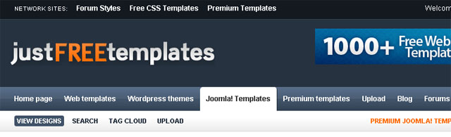 Free Website and Joomla Templates