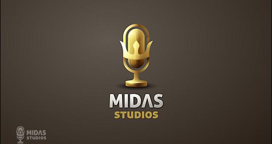 Midas Studios Golden Logo