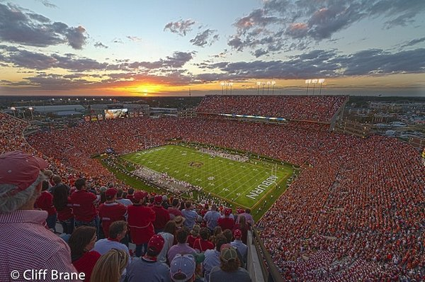 wide angle albama stadium