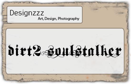 Dirt2 Soul Stalker font