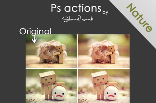 nature actions in adobe photoshop