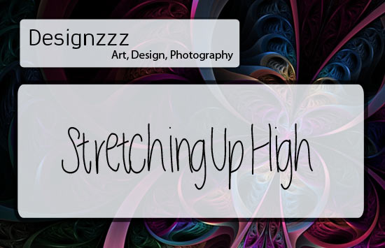 stretching font