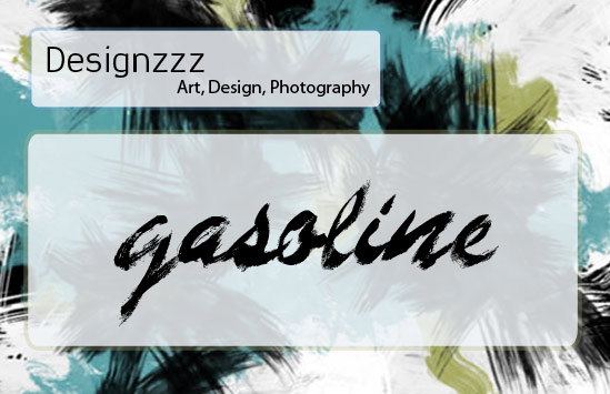 Gasoline painted fonts