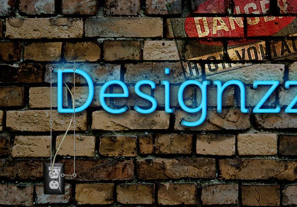 Typography neon light wallpapers making Photoshop