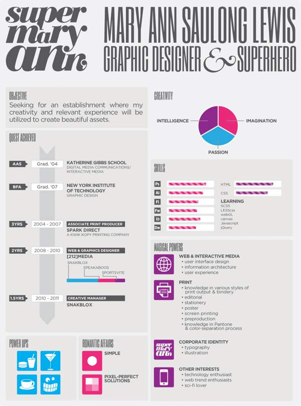 infographic style resume design
