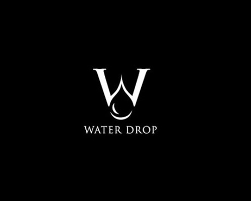 water drop minimalist logos
