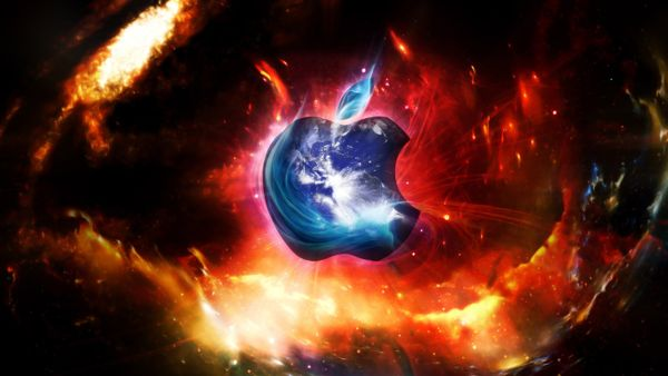 space wallpapers of apple technology