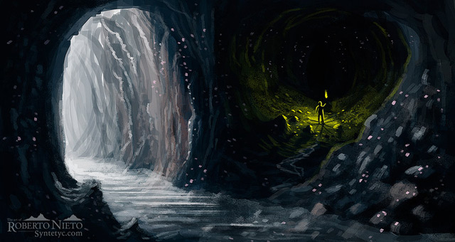 Great Cave Digital Painting