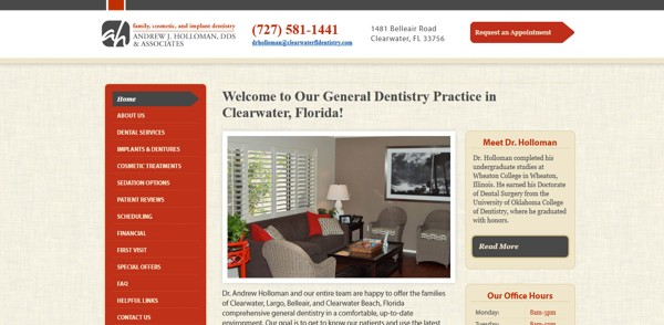 2012 Best Dental Website Design