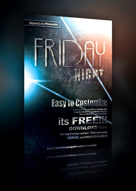 friday night flyer design