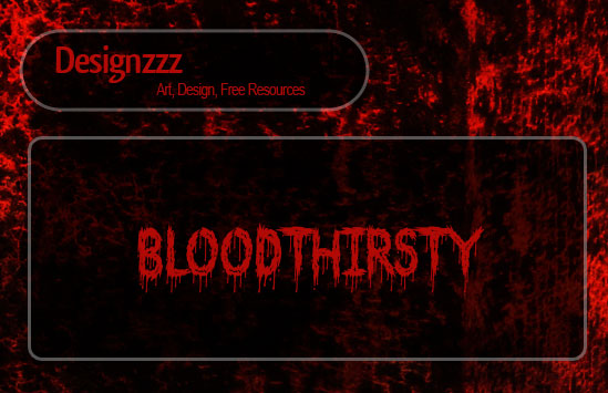 30 Scary Fonts: Free Blood Font Set