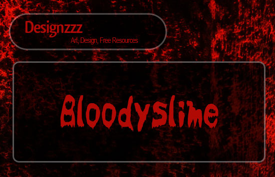 blood font for scary effect typography