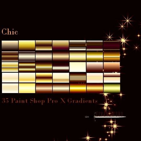 Paint Shop Pro edition of Chic gradients
