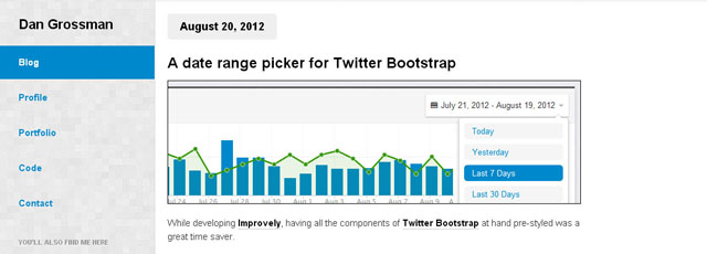 Date Range Picker for Twitter Bootstrap