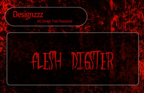 blood fleshing fonts