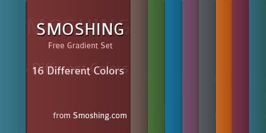 collection of PS color gradient sets