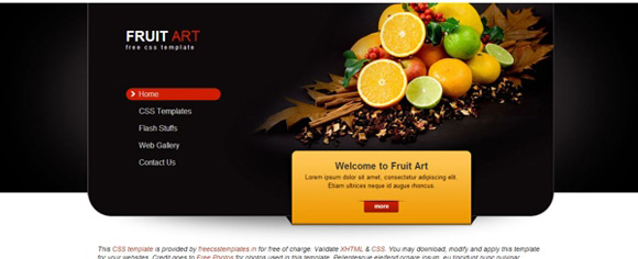 fruit art web layout