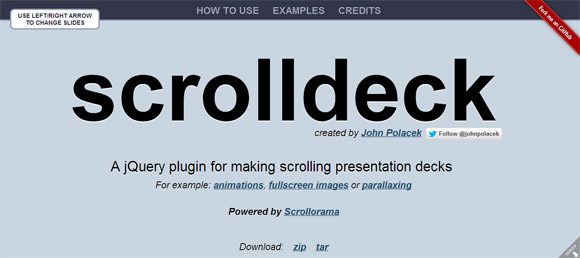 Scroll Deck Parallax Scrolling Plugin