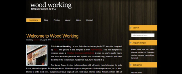wood work Free Html CSS Template