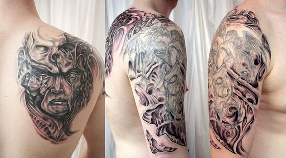 Horror Sleeve Tattoo for men
