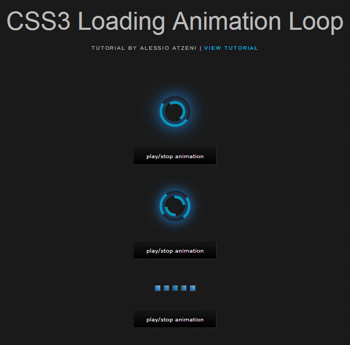 CSS3 Loading Animation Loops