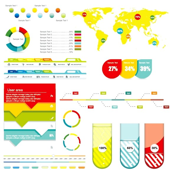 Economy Infographics design elements vector graphic 03