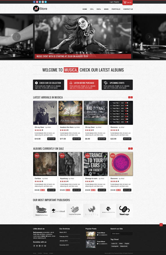 musica responsive wordpress theme