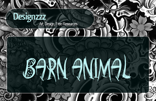 barn animals font