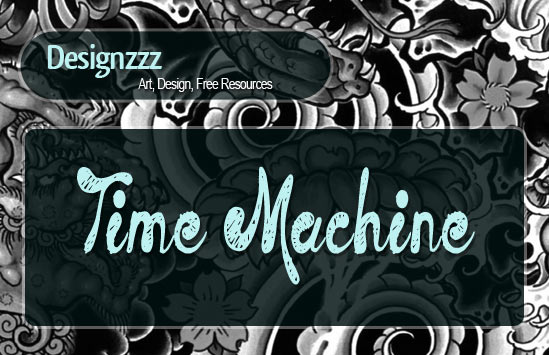 time machine font
