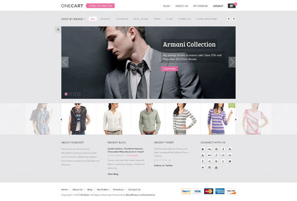one cart ajax responsive wordpress theme