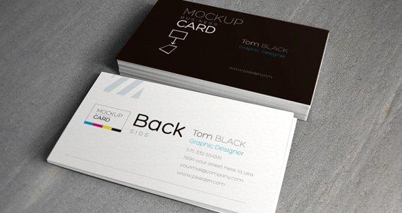Psd Business Card Mock-Up Vol 2