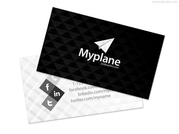 classy black and white business card template.